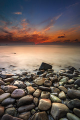 Zen attitude ... (Ludovic Lagadec) Tags: erquy bretagne breizh brittany beach bretagnenord nisi gnd8 gr34 grandemare nd64 ndfilter gndreverse filtrend france seascape sea sky sunset rocks rochers marin mare mer manche longexposure ludoviclagadec landscape longueexposition poselongue paysage plage cap