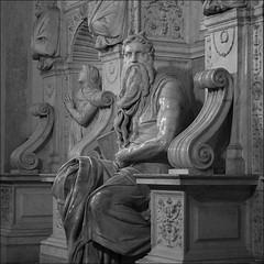 Moiss (John LaMotte) Tags: estatua escultura roma italia infinitexposure bw blancoynegro blackwhite pretoebranco monocromo