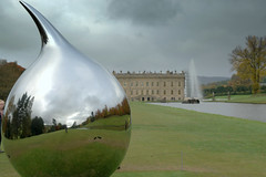 TEAR - Richard Hudson (Tony Worrall) Tags: beyond limits the landscape british sculpture 19502016 chatsworth house palace royal seat duke place statue art view event show exhibition location chatsworthhouse gardens items photos derbys derbyshire devonshire uk england english iconic scene pretty nice beauty sale beyondlimits sothebysbeyondlimits beyondlimitschatsworth2016 reflection silver shine round garden richardhudson