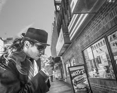 Market Street East, 2015 (Alan Barr) Tags: street people blackandwhite bw philadelphia monochrome mono blackwhite candid streetphotography panasonic sp streetphoto 2015 marketstreeteast gx7