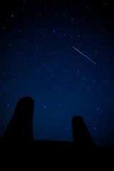 PERSEID METIOR SHOWER (Darran Leadley) Tags: man stars shower lumix olympus astro panasonic 17 isle omd iom perseid em5 metior