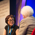 Xinran chats to Chair Ruth Wishart