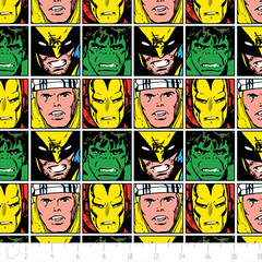 """(Camelot Cottons) Marvel Comic II, Faces In Multi • <a style=""""font-size:0.8em;"""" href=""""http://www.flickr.com/photos/132535894@N06/20407086019/"""" target=""""_blank"""">View on Flickr</a>"""