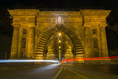 Tunnel at Night, Budapest, Hungary, Europe