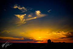 20150824T192858 (William Gruner Photography) Tags: sunset sky newmexico silhouette skyline clouds canon eos downtown albuquerque 5d markiii canoneos5dmarkiii hotelparqcentral