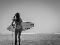 Surfer Chick - 1 of 3 (JSHGGDN) Tags: ocean blackandwhite bw beach water girl monochrome hawaii harbor surf surfer maui babe surfing chick bikini bnw lahaina