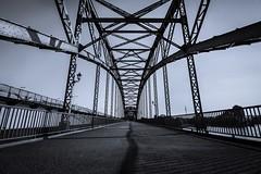 """Alte Harburger Brücke (Hamburg) (Janette Paltian) Tags: travel bridge blue canon flickr hamburg wideangle architektur monochrom blau brücke gebäude harburg architectur weitwinkel 650d ultraweitwinkel canon1018 canon1018"""" harburgerbrücke janettepaltian"""