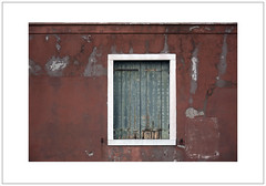 Green Shutters, Red Wall, White Frame (Pictures from the Ghost Garden) Tags: venice windows urban color colour architecture buildings landscape nikon decay faded shutters dslr venezia urbanlandscape giudecca 18105mm d7100