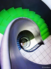 Urban green (nathaliedunaigre) Tags: green architecture stairs steps vert staircase escalier marches explored