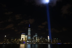 9-11 Tribute In Light 12 (Amaury Laporte) Tags: newyorkcity favorite usa newyork unitedstates 911 landmarks northamerica tributeinlight memorials september11memorial favorite2015