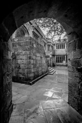 Skipton Castle (Jon) Tags: castle monochrome mono nikon october north east northeast northyorkshire skipton 2015 skiptoncastle d7100 nikond7100