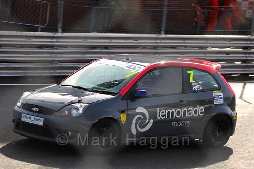 Cameron Pugh in the Fiesta Junior Championship, Brands Hatch, 2015