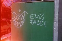 Rollei 35 light leak (Patrick Copley) Tags: nyc winter streetart film brooklyn rollei 35mm graffiti kodak lightleak sunsetpark rollei35 tessar freezingcold ultramax400