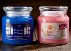 Doctor and Rose (giantmike) Tags: classic nerd fun tv candles geek homemade doctorwho scifi scents canonef24105mmf4lis