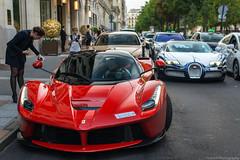 LaBlanc. (JayRao) Tags: paris france june 50mm nikon îledefrance ferrari saudi bugatti luxury veyron ksa 2015 d610 grandsport hypercar orblanc laferrari saudicars