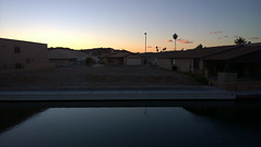 Trapezoid Reflection and Big Sky (Ms. Jen) Tags: november sunset arizona sky water clouds canal unitedstates dusk palmtree coloradoriver parker 2015 november2015 photobyjeniferhanen lumia1020 nokialumia1020 moovalyakeys msjencom