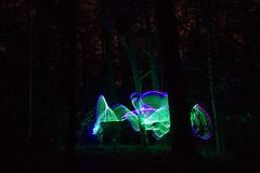 Tree Lightings (rudolphfelix) Tags: wood longexposure light color tree night forest canon dark painting eos lights licht colorfull magic lightning wald lightroom the malerei 600d into lightpanting