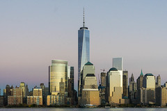 Freedom Tower from New Jersey side (freshcoding) Tags: nyc newyork dusk worldtradecenter wtc freedomtower