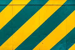 Green and yellow (kaifr) Tags: green yellow wall outdoors se sweden stripes gothenburg diagonals vstragtalandsln