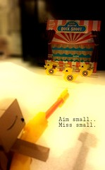Aim small...Miss small. (karmenbizet73) Tags: carnival art toys photography doll flickr toystory random circus ducks target aim targetpractice danbo thedollhouse circuslife 293365 danboard photodevelopment danbolove toysunderthebed 2015365photos