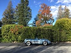 0l' Blue 58 (misterbigidea) Tags: hot chevrolet racecar wheels neighborhood hedge 1958 corvette bluesteel vroom vintageclassic greeneronotherside