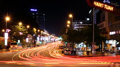 Lights of Traffic (grass-lifeisgood) Tags: street night canon lights is long exposure traffic scene busy malaysia hang ef melaka malacca 2470mm tuah bustling f4l