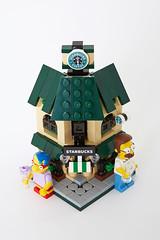Lego Starbucks Cafe Mini Modular (minimal_brick) Tags: cafe lego mini starbucks modular buiding legoideas minimodular
