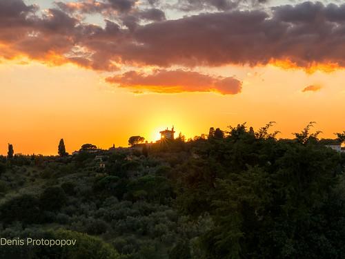 Florentine seting sun
