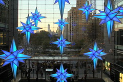 Blue stars (DC Products) Tags: christmas newyorkcity decorations newyork timewarnercenter 2015