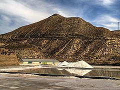 Salinas de La Malah (jmerelo) Tags: salinas salt cielo sky mountain hill andaluca