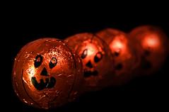jack a row (johnsinclair8888) Tags: pumpkin halloween dof orange fall nikon foil shine macro art row candy holiday sigma d750 105mm sliderssunday affinityphoto