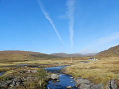 Black Water River, Highlands of Scotland, Oct 2016, Explored (allanmaciver) Tags: black water river blue skies vapour lodge remote location peace quiet moorland autumn chill allanmaciver highlands scotland