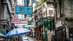 Hong Kong (e.glasov) Tags: hongkong island soho spiritual cultural atmospheric street city characters advertisement banners people life tourists traveller architecture         sony a6300