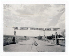 Grants, NM (moominsean) Tags: polaroid 190 instant type667 expired022009 newmexico grants malpais cibolaindustrialpark desert