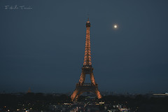 """""""La lune""""...I closed my eyes and let her lead me. (Fabiteno) Tags: paris france eiffel tower"""