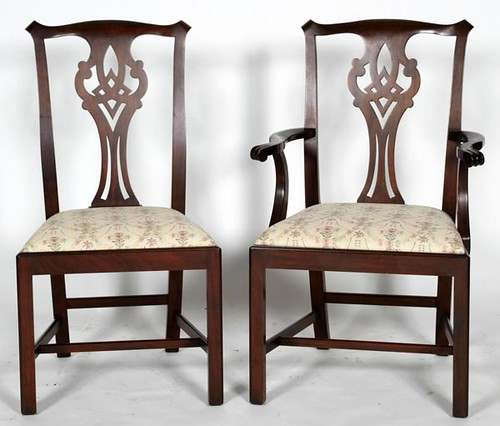 Set of 8 Henkel Harris Chippendale Style Chairs ($1,792.00)