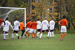 IMG_3802eFB (Kiwibrit - *Michelle*) Tags: soccer varsity boys high school game team monmouth mustangs nya north yarmouth academy maine 102916