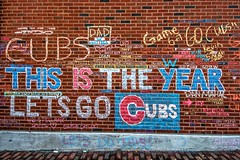 This IS The Year, Let's Go Cubs (Joshua Mellin) Tags: chicagocubs wrigleyfield worldseries 2016 chalk graffiti chalkgraffiti w flythew cubswin stadium outside wrigley wrigleyville game7 tickets seats tv baseball mlb hope chicago champions championship 1908 108 fans chicagocubsworldseries worldseries2016