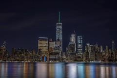 The City (karinavera) Tags: cityscape skyline nyc newyork travel sonya7r2 longexposure manhattan view night reflection urban city newjersey