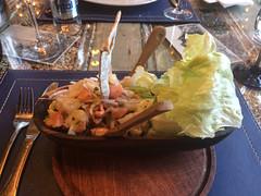 """Punta Arenas: succulente ceviche de poisson et crevettes très frais en entrée. <a style=""""margin-left:10px; font-size:0.8em;"""" href=""""http://www.flickr.com/photos/127723101@N04/30201854761/"""" target=""""_blank"""">@flickr</a>"""