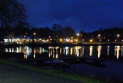 Floda by night (Silva_D) Tags: ljus lights night natt spegling reflection lngslutartid longexposure floda svelngen vstragtaland vstergtland sweden