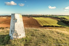 Hastings Hill (robinta) Tags: outdoors hill sunderland landscape historic trig point field sky clouds contrast patterns lines ks1 pentax sigma18200mmhsmc colour grass