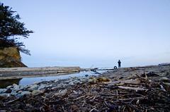 (Bronte Lockwood) Tags: photography long exposure dusk new zealand moeraki tyre sky rocks nature river