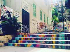 painted stairs (jonimaronyan) Tags: painted paintedstairs old lebanon paint colors history colorfull art beautiful beirut graffiti artistic street