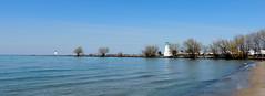 Port Dalhousie panorama (Sharon's Art Shots) Tags: portdalhousie ontario canada beach lighthouse water lakeontario