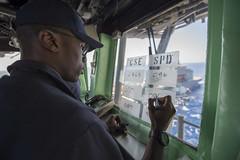 161024-N-JS726-036 (SurfaceWarriors) Tags: navy marines amphibiousassault southchinasea bonhommerichard expeditionarystrikegroup underway deployment military replenishmentatsea ras navigation