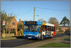 34816, Station Road (Jason 87030) Tags: dennis dart longbuckby northants daventry northamptonshire px06dwa midlands stagecoach bus 11 wirres pole mast canon eos sunny november 2016 birthday village scene roadside