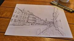 Iceland - Reykjavik ( ) Tags: drawing sketch    iceland reykjavik urban city    building