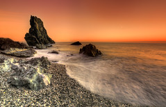 The Long Stone (Nickerzzzzz - Thanks for stopping by :)) Tags: ©nickudy nickerzzzzz canoneos70d efs1022mmf3545usm thelongstone sunset seascape sky sea water wave rocks downderry cornwall