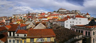 Coimbra's  labyrinth of lanes of the upper town